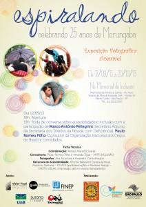 A exposição fotográfica acessível - Espiralando, aberta ontem [12], no Memorial da América Latina, pela Ong Morungaba, tem o apoio da Iguale, que desenvolveu a audiodescrição para as fotografias.