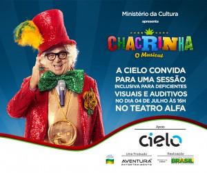 Imagem do convite_Chacrinha o Musical em SP